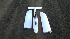 Finwing Penguin UAV wings off for transport