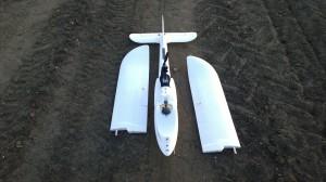 Finwing Penguin UAV wings off for transport