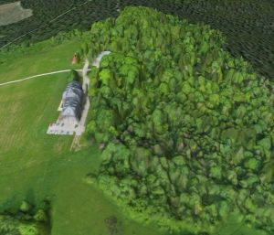 Bezmiechow airfield 3D Digital Surface Model data from Pteryx UAV